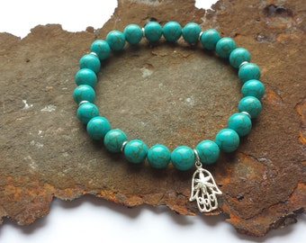 Turquoise bracelet with silver elements 925 Silver