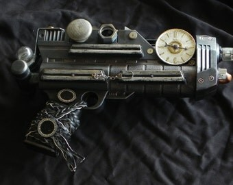 Steampunk Gun - Tick Tock - medium cosplay prop weapon - artists Don and Janet Beasley