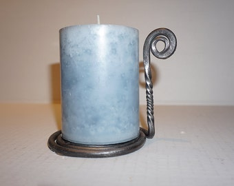 Candleholder w/ Handle - Hand-forged