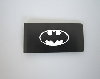Laser Engraved Stainless Steel Money Clip Batman