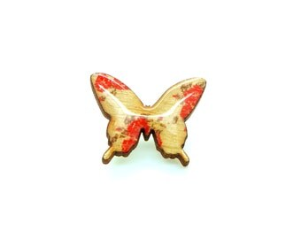 Butterfly Brooch - Roses r Red