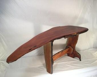Mahogany live edge table