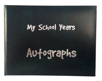 School Autograph Book - Dark Green
