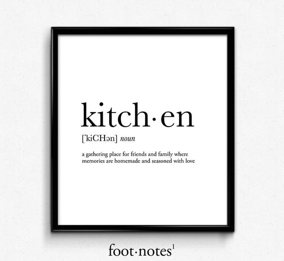 Kitchen Definition Kitchen Art Kitchen Print College Dorm