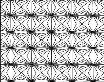 Black and White hand designed Textile