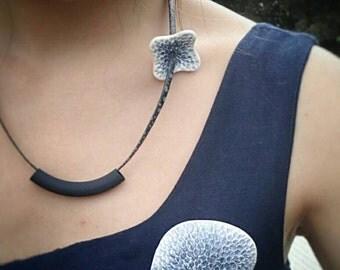 """Art necklace """"Blue Wave"""""""