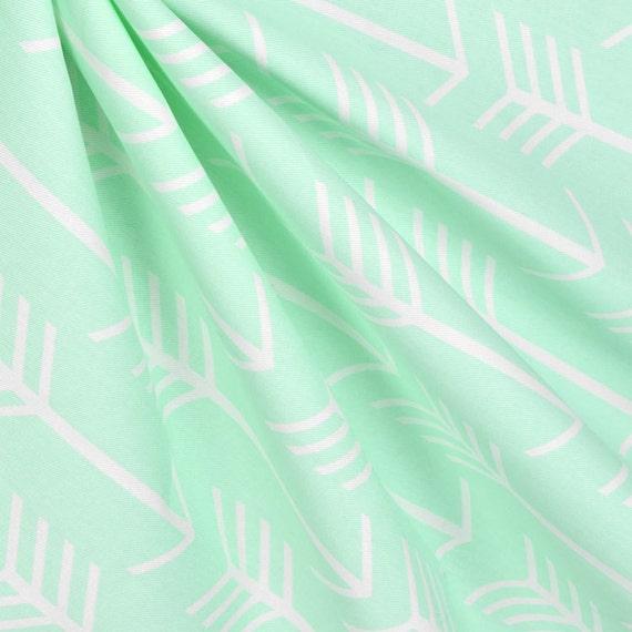 mint green curtain panels light green arrow print curtains