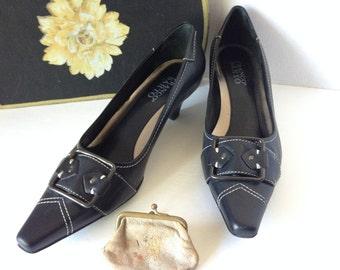 Shoes, Franco Sarto, size 8.5M, leather dress pumps