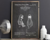 Puppet Patent Poster, Kermit Poster, The Muppets, Muppet Puppet, Jim Henson Muppet Poster, Muppet Poster PTP0199 INSTANT DOWNLOAD
