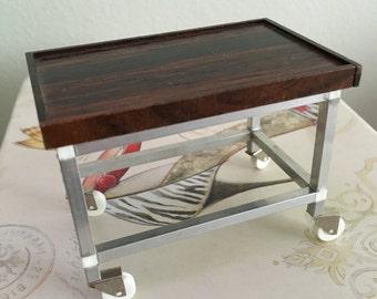 Dollhouse Miniature Table On Wheels