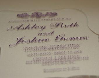 Custom Acrylic Invitations - Customizable acrylic invitations for weddings, birthdays, anniversaries, parties, etc..