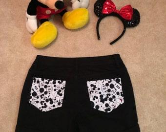 Women's Disney Black Shorts