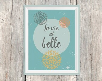 "A4 poster ""life is beautiful"" - positive and bright!"