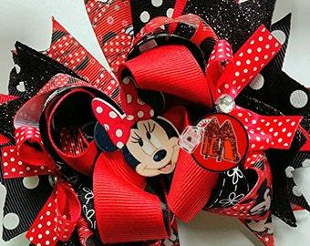 Minnie Mouse hair bow OTT  birthday bow
