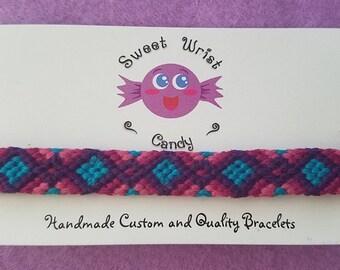 Colorful Handmade Patterned Friendship Bracelet