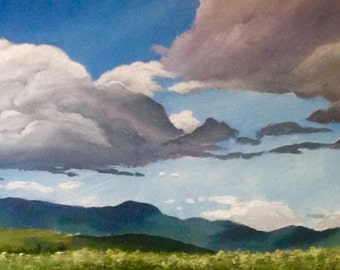 "Acrylic Painting 12""x36"""