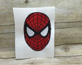 Spiderman Face Embroidery Design, Spiderman Embroidery Design