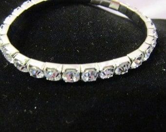 Vintage Rhinestone bracelet, bridal bracelet, vintage rhinestones, vintage bridal jewelry, vintage wedding