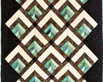 Mod forest throw or baby quilt