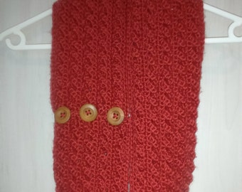 3D Cable Stitch Infinity Scarf