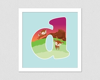 Animal Alphabet Letter D Deer