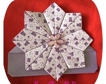 Flower Origami Corner Bookmark