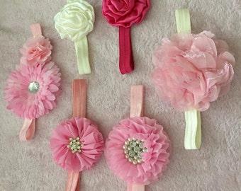 flower elastic headband for baby / toddler