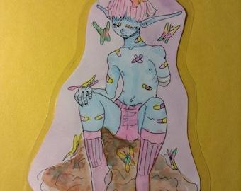 Laminated Watercolor Drawing