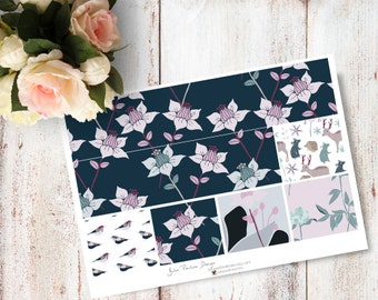 """Planner Stickers for the vertical Erin Condren Life Planner - Into The Woods Kit """"Washi"""" Sheet"""