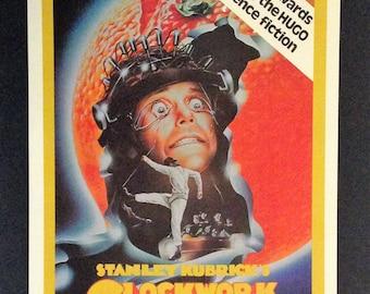 "A Clockwork Orange Movie Poster 12""x18"" Reproduction // Stanley Kubrick // Malcolm McDowell // Alex // Dystopian // Ultra-Violence"