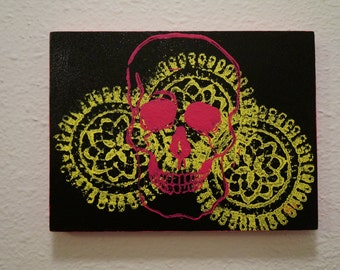 Neon Skull and Lace