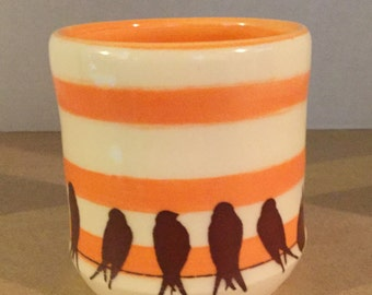 Birds on a Wire 8 oz cup
