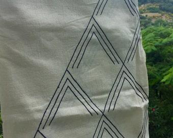 Large wild silk plaid