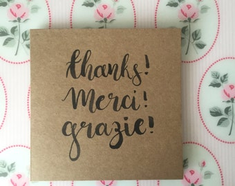 Hand Made Thank You Card
