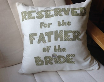 Father of the Bride Cushion