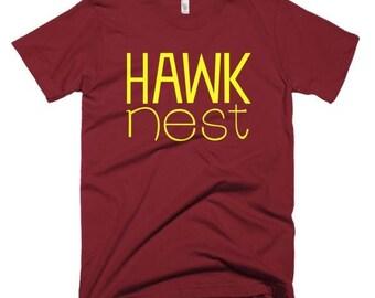 Hawk Nest Yellow Logo Men's Tee