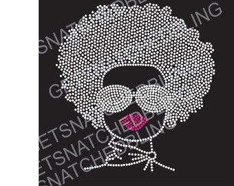 Afro Bling woman with scarf.