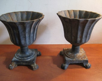 Two antique iron jardinières from France, circa 1925 ...