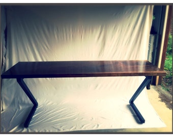 Industrial Walnut Desk