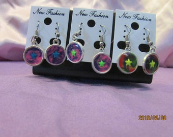 3 Pair of Polymer Clay Drop Earrings