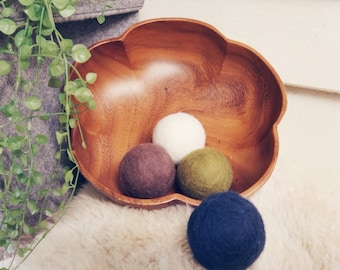 Felted Ball Set- Riverbank Tones