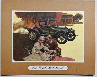 Artwork 1915 Royal Mail Roadster Printing Sample mounted on board
