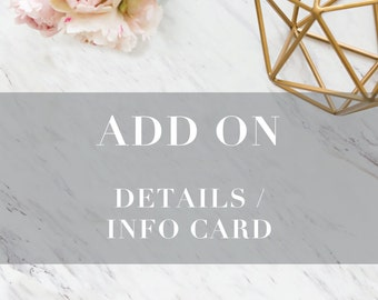 Add On: Details or Information Card