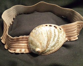 ABALONE SHELL BELT