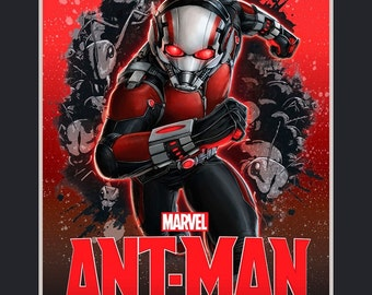 """Marvel Comics Fabric Panel: Marvel Ant-Man  100% cotton Fabric by the PANEL 35""""x43"""" (D62)"""