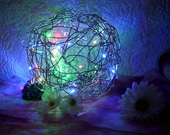 Wire LED ball lamp