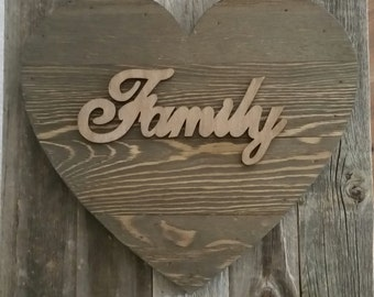 """Wood """"Family"""" Sign"""