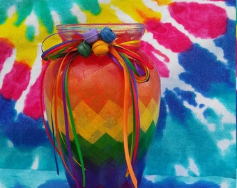 Rainbow vase/candle holder