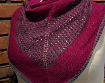 The Office Shawl Pattern - Knit - Neck - Torso - Fingering Weight - Stranded Colorwork