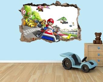 Super Mario Kart 3D Effect Graphic Wall Vinyl Sticker Decal Part 60